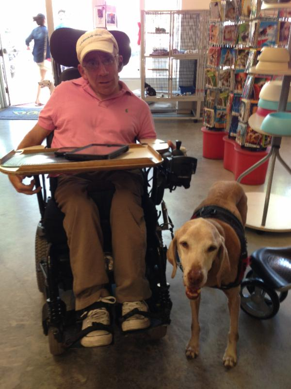 Chris Stein and his dog Morgan