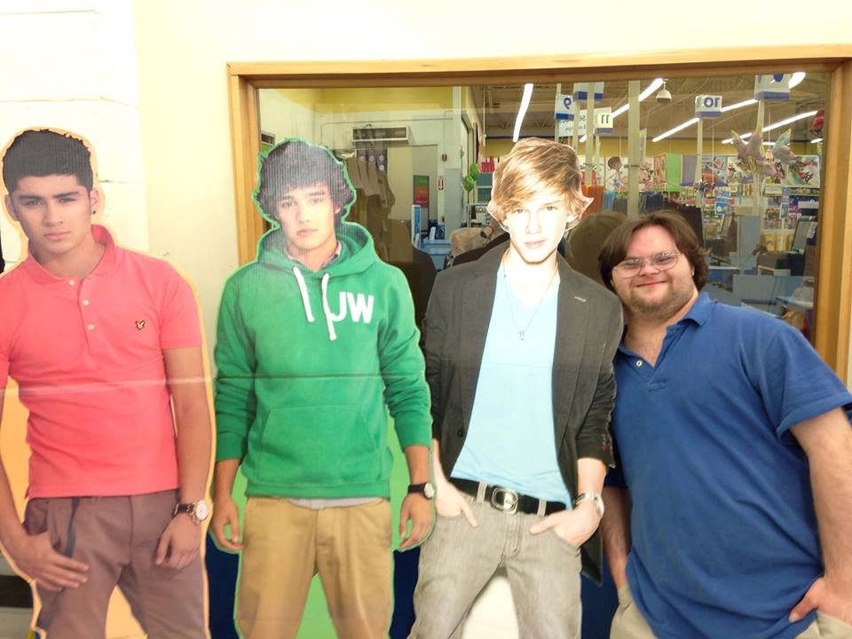 Karl and his favorite band, One Direction