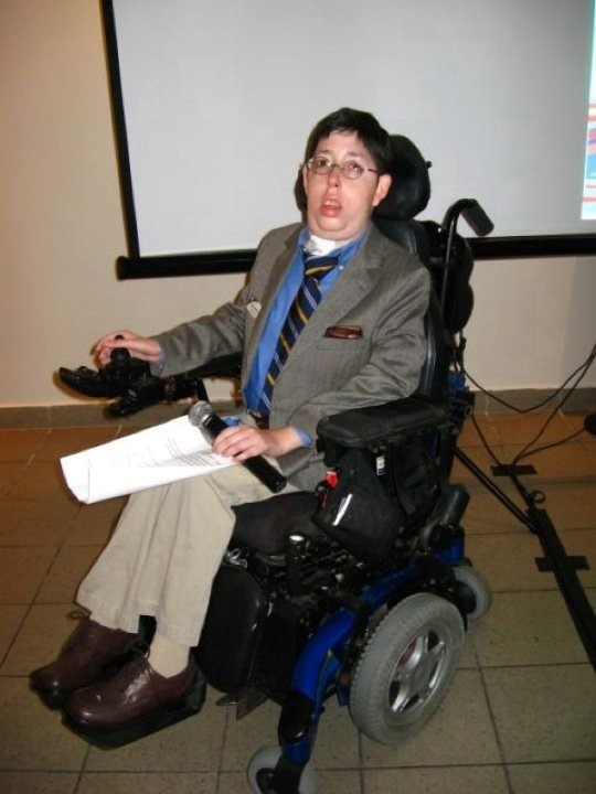 zach in a wheelchair