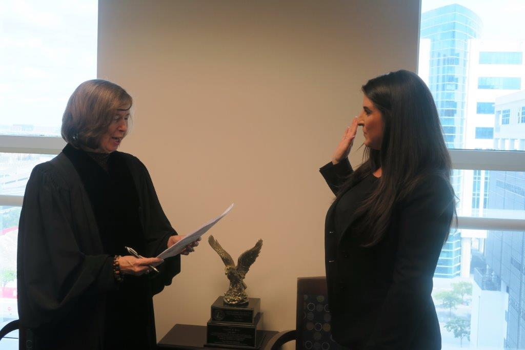 Lisa Goodman and Judge Muir