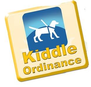 kiddle logo with dog in harness