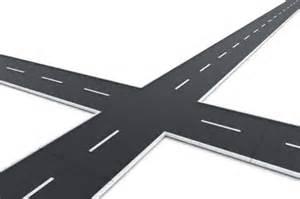 Two roads crossing
