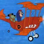 mutley and dick dasterdly in a plane (cartoon)